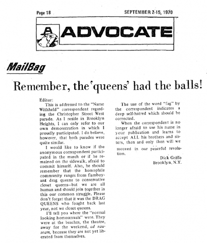 Remember the queens had balls