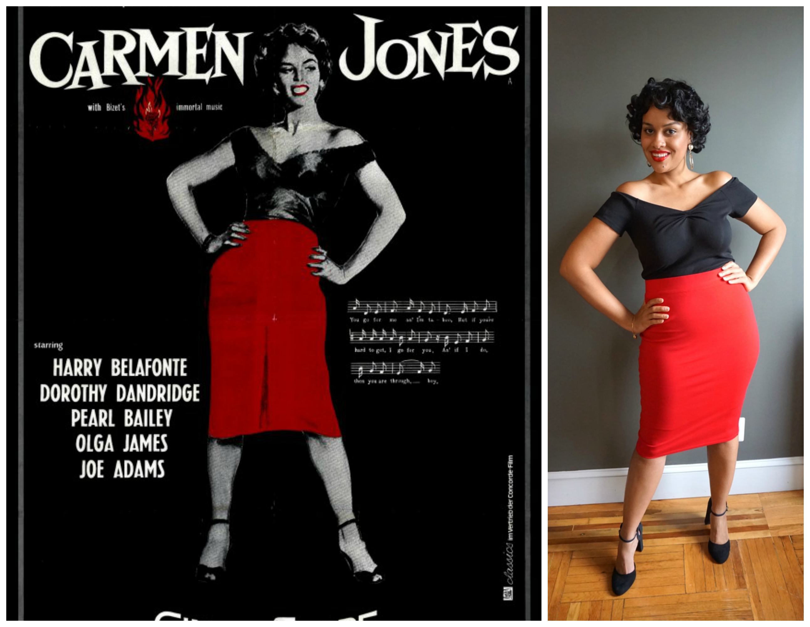 Carmen Jones costume comparison