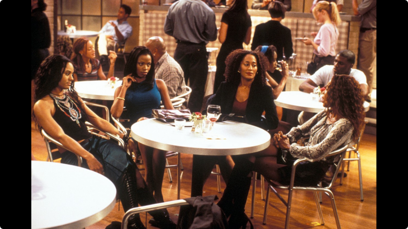 Scene from the TV show, Girlfriends