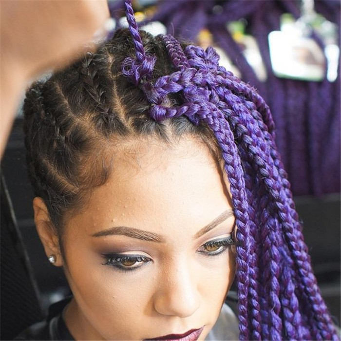 Crochet Box Braids With Leave Out : 3S-box-braid-synthetic-twist-braids-20-roots-piece-afro-twist-crochet ...