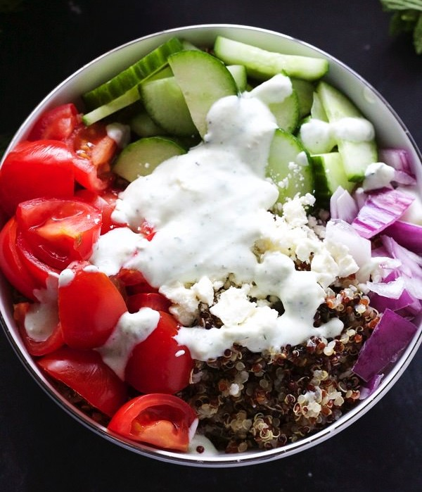 Mediterranean Quinoa Bowl Photo: Almond Eater