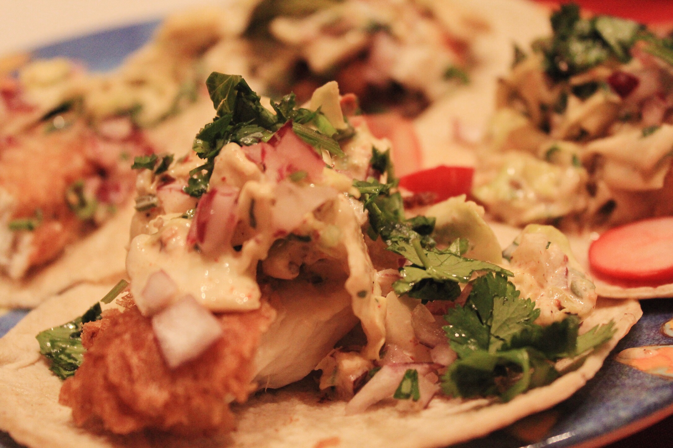 Recipe perfectly golden beer battered fish tacos blavity for Beer battered fish tacos recipe