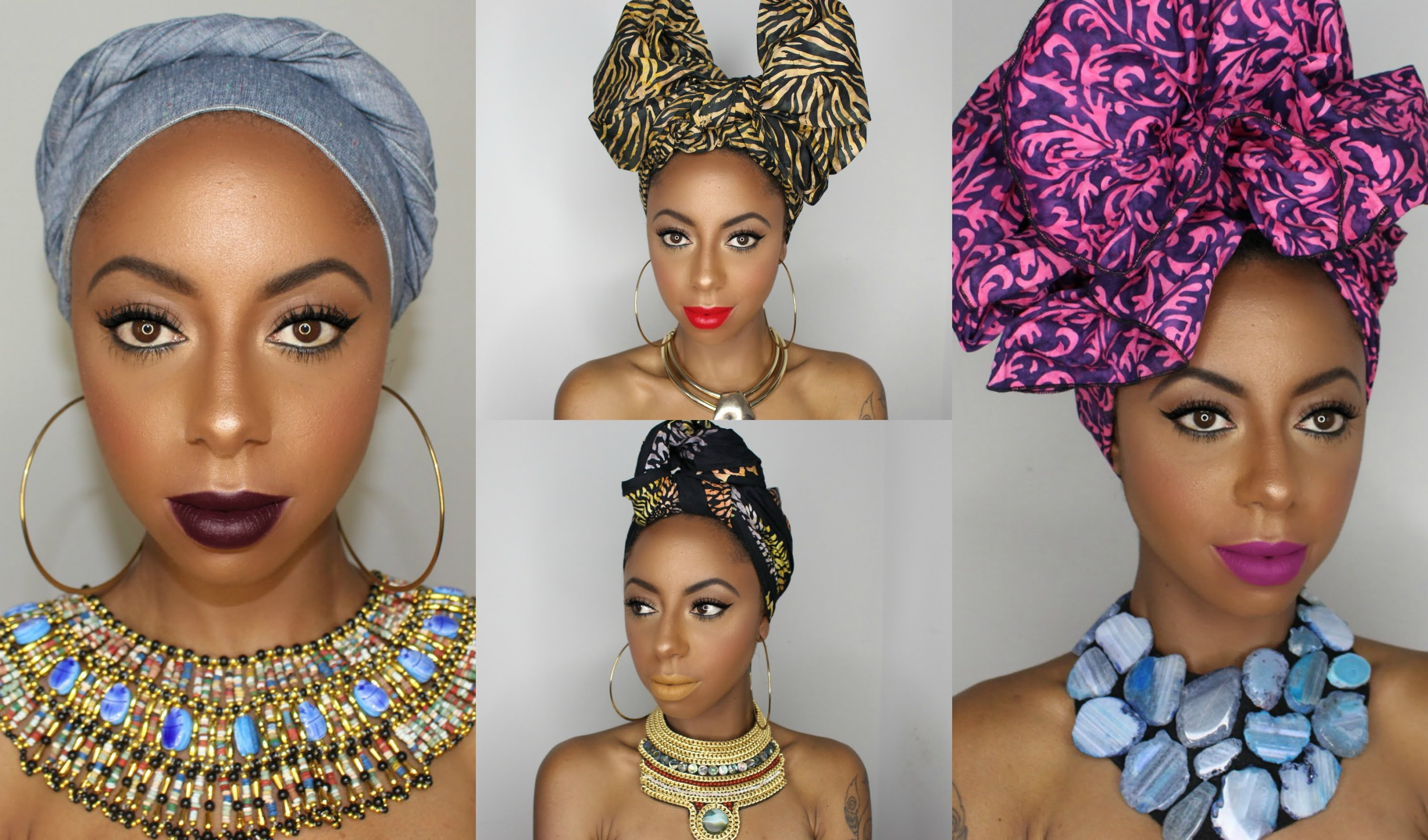 4 beautifully bold head wrap tutorials to perfect via The Wrap Life ... 2d1662d4c3e