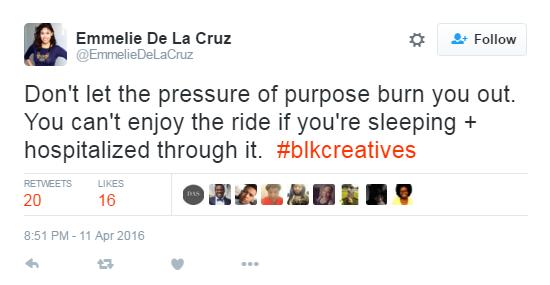 Emmelie De La Cruz twitter