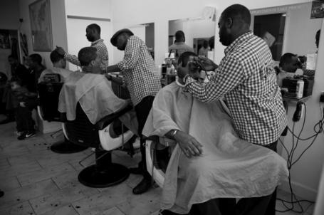black barber in America